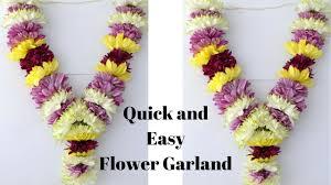 how to make chrysanthemum garland easy method to make sevanthi