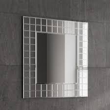 modern bathroom mirrors battery powered led bevelled plain