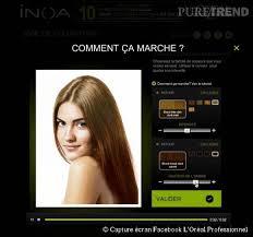 comment savoir quelle coupe de cheveux nous va cheveux tester une nouvelle couleur avec l appli inoa l oréal