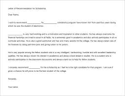 College Letter Of Recommendation From A Family Friend awesome collection of sle scholarship recommendation letter