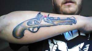 traditional blunderbuss by john at mile high tattoo in thornton