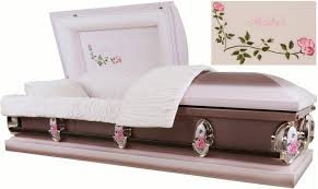 caskets prices best price caskets 2212 casket 18ga br light pink and