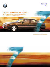 download 2001 bmw 7 series 740il owners manual docshare tips
