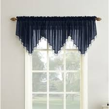 Blue Valance Curtains Blue Valances U0026 Kitchen Curtains You U0027ll Love Wayfair