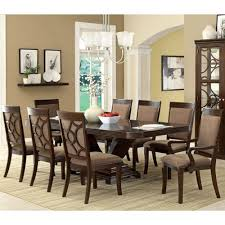amazon com woodmont solid wood walnut finish formal 9 piece