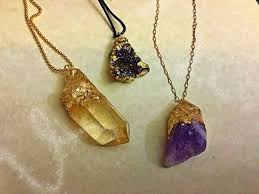 diy faux gold dipped and druzy charms for jewelry 8