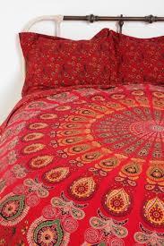 urban outfitters red tapestry medallion mandala duvet cover full
