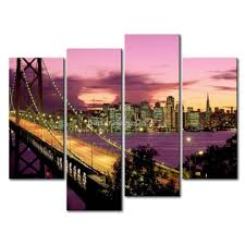 San Francisco Home Decor Wall Art Designs San Francisco Wall Art 3 Piece Wall Art Painting