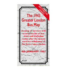 London Bus Map Historical Bus Map 1943 New In