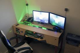 furniture cool computer tables trend 3 astounding gaming desk ideas plus furniture staggering images design
