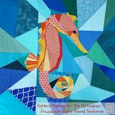 chris dodsley mbcd a foundation paper pieced seahorse pattern