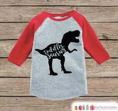 Halloween Shirts For Boys by Toddler Dinosaur Shirt Toddlersaurus Kids Red Raglan Shirt