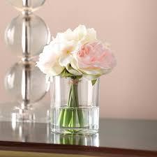 rose in glass willa arlo interiors hydrangea and rose arrangement in glass vase