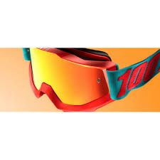 100 percent motocross goggles 100 motocross goggle accuri passion orange mirror mxweiss