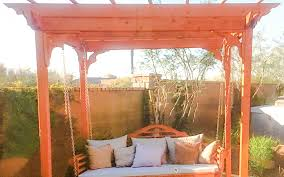Swing Pergola by Pergola Installation In Phoenix Phoenix Valley Landscaping 602