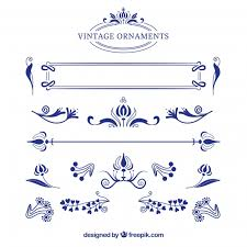 collection of vintage ornaments vector free