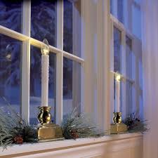 led candles for windows decor