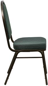 Stacking Banquet Chairs Dark Green Dome Back Banquet Chair W Gold Vein Frame