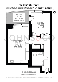 Tower Of London Floor Plan 1 Bed Flat For Sale In Charrington Tower Biscayne Avenue London