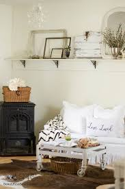 farmhouse living room in the spring sew a fine seam