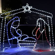 2d led silhouettes jesus lights outdoor for lawn fia uimp
