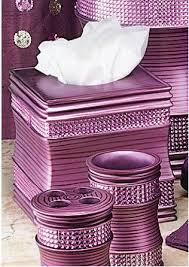 Purple Bathroom Accessories by Sequins Purple Bath Collection Tissue Box Tissue Box Holders