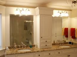 bathroom cabinet with lights and mirror personable picture