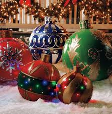 Oversized Christmas Decorations Commercial by Commercial Giant Holiday Christmas Balls With Mosca Design Over