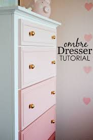 Pink And Gold Bedroom Decor by Diy Ombre Dresser Tutorial Diy Ombre Project Nursery And Ombre