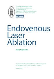 j dische k che endovenous laser ablation pdf available
