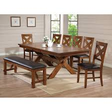 Marble And Wood Dining Table Acme Rolle 5 Piece Counter Height Dining Set Faux Marble And