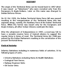 civil engineering jobs in indian army 2015 qmp army benefits indian territorial army benefits
