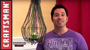 how to decorate a craftsman home mardi gras decorations diy beaded chandelier craftsman youtube