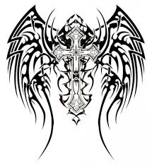 tattoo cross dragon free drawings of crosses with wings download free clip art free