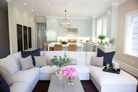 kitchen sofa furniture marsh and clark living rooms open floor plan white sectional