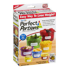 perfect portions portion control containers walmart com