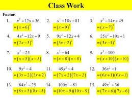 holt algebra 8 5 factoring special products ppt worksheet tpt