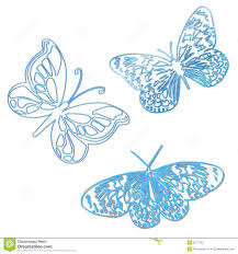 butterflies outline blue stock photo image 5277740