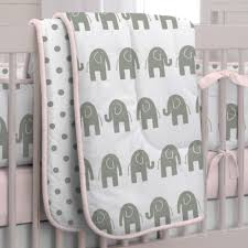 Pink And Grey Shower Curtain by Pink And Gray Elephants Crib Bedding Carousel Designs