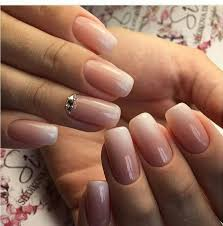 neutral colours pink to white gradient goodness nail design