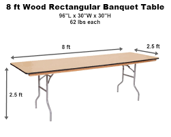 8 ft banquet table dimensions 6 8 foot banquet table shop ft tables 5 pool 8ft dimensions ishoppy