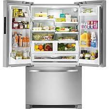 French Door Refrigerator Without Water Dispenser - kenmore 70413 27 6 cu ft french door refrigerator stainless steel