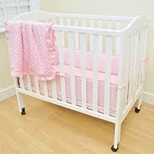 Mini Portable Crib Bedding Sets American Baby Company Heavenly Soft Minky Dot