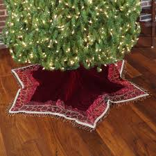 tree skirts 56 solid burgundy velvet tree skirt with tassels