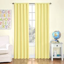 Yellow Curtains For Living Room Amazon Com Eclipse Kids Microfiber Room Darkening Window Curtain