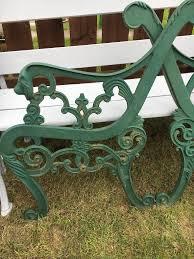 rod iron bench legs bench decoration