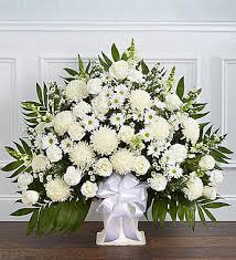 funeral flowers delivery floor basket white sympathy and funeral flowers delivery send