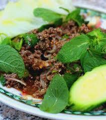 cuisine asiatique boeuf recette lab haché boeuf au riz frit cuisine asiatique du sud est