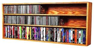 Oak Cd Storage Cabinet Cd Storage Cabinets Solid Oak Wall Or Shelf Mount For And