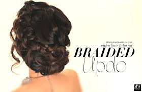 voluminous updo braided bun for prom wedding cute hairstyle